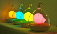 Wholesale Children s Bird Night Lights Portable Creative Touch Sensor USB LED Baby Night Light Lamp