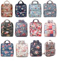 Wholesale Ladies Fashion Floral Backpack Style Canvan Designer Ladies Waterproof Computer Bgas Christmas Gifts Support Drop Shipping