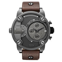 battery straps - Watch for man DZ Oversized Case Mutiple Dials Date Display Rubber Strap Quartz Waterproof Men s Watches
