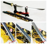 battle quality swords - HIGH QUALITY BATTLE READY Unokubi zukuri CLAY TEMPERED T STEEL CHOJI HAMON SWORD JAPANESE SAMURAI KATANA