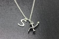 american antique chairs - New fashion initial necklace Antique silver dentist chair charm pendant necklace
