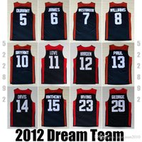 Wholesale 2012 USA Dream Team Dark Blue good Jersey Durant Paul James Harden Westbrook Bryant Davis Anthony George Irving jerseys