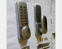 Wholesale Push Button Mechanical Keyless Door Lock Silver