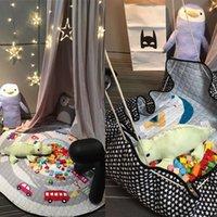 babies decorative rug - 2016 baby play mat cm playing mats toy storage bag portable toys storage bag Blanket Rug Boxes Toys Organizer