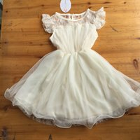 Wholesale Pretty Girl Summer Ivory Lace Cotton Dress Childrens Clothes Most Country