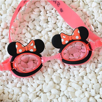Wholesale 2016 Summer Kids Mickey Minnie Mouse Waterproof Children Kids Boys Girls Swimming Goggles Diving Glasses Cute Cartoon Beach Supplies K7035