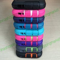 Wholesale Top Quality TPU PC Hybrid Shockproof Case With Stander and Yellow Retail Box for iPhone S S Plus For Samsung S5 S6 S7 edge Note