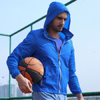 Wholesale Fall New Outdoor Sports Men Windbreaker Quick Drying Sunscreen Clothing Ultra Light Windbreaker JOZSI Brand Clothing L9913
