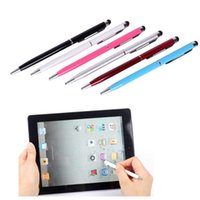 apple laptop sales - HOT SALE in Bullet Mini Metal Capacitive Touch Pen Stylus screen for Phone Tablet Laptop Built in Ballpoint Meeting Pen