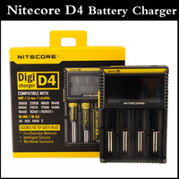 battery charge display - Nitecore D4 Digicharger LCD Display Battery Charger Universal Nitecore Charger intelligent in charger with Charging Cable VS nitecore I4