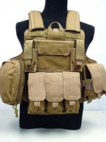 Wholesale US Molle Combat Strike Plate Carrier Vest Coyote Brown bulletproof vest