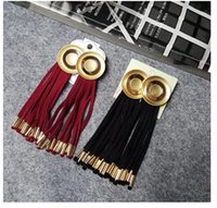 Wholesale Europe street fashion jewelry exaggerated round earrings earrings female tassel