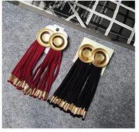Wholesale Europe street fashion jewelry exaggerated round earrings earrings female tassel