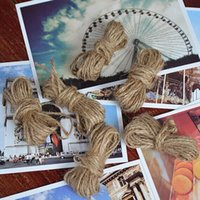 Wholesale 2 mm Natural Burlap Hessian M Jute Twine Rope Cord For Wedding Party DIY Handmade Accessory Craft rustic wedding scrapbooking