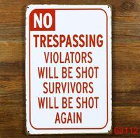 Wholesale NO NO NO Tin Sign Bar pub Decor Retro Metal Art Poster Red Note Painting