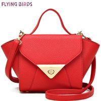 Wholesale FLYING BIRDS women leather handbag famous brands women s messenger bag luxury handbags women bags designer bolsos LS8312fb