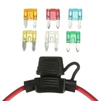 Wholesale Waterproof In Line Mini Blade Fuse Holder with Fuses V Car Automotive A A A A A A AWG Auto Car Fuse Holder