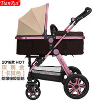 Wholesale Belecoo shell like baby stroller high landscape can sit and lie in winter and summer children cart baby stroller