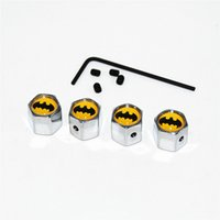 Wholesale Metal Anti theft Lock Wheel Tire Tyre Valve Stem Air Cap Cover Car Tire Valve Caps For Bat Batman Any Logo Available