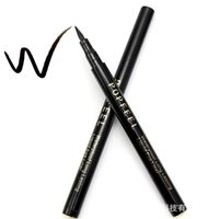 Wholesale Professional Cool Black Eyeliner Waterproof anti sweat not dizzydo speed dry persistent explosion of natural cosmetics trade