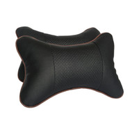 Wholesale 2PC Car Pillow winter Space Memory Fabric Neck Headrest Car Covers hole digging Pillow Car Seat Cover Headrest Neck Pillow Black