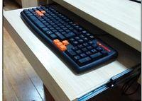 Bureau de l'ordinateur plateau du clavier étagère support palette en bois de levage deux voies mute Cheap US Liren Sheng