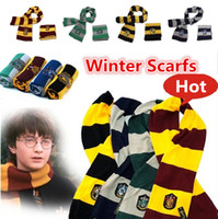 Wholesale New Harry Potter Scarf Gryffindor School Unisex Knitted Striped Scarfs Gryffindor Scarves Harry Potter Hufflepuff Scarfs Cosplay