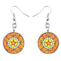 antique india jewelry - Mandala Art earrings earring om yoga antique copper jewelry earrings female flower earrings jewelry india Zen