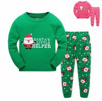 baby night suit - Fashion Kids Christmas Sleeping Dress Boys Girls Pajamas Sets Santa Baby Sleepwear Sleeping Clothes Night Suit Children Home Dress