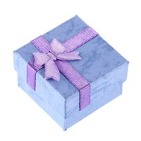Wholesale 1pcs Earrings Ring Lilac Small Necklace Jewelry Gift Display Box cm Hot Sale