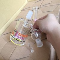 american glass pipes - new Dunkin Dabs American Runs On Dabs Mini two function clear Mini bubbler glass mini hookah mm water pipe oil rig bong