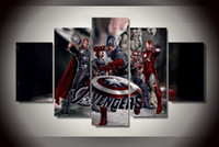 avengers framed art - 5 Set No Framed HD Printed Avengers Painting on canvas room decoration print poster picture canvas nude painting art