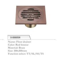 Wholesale Brass Floor Drainer mm Shower Floor Drain Grate Red Bronze X D8605H