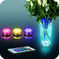 Wholesale 2016 Multi Color Submersible LED Light Party Lamp Underwater W Remote Control Waterproof Lights Use AAA Battery With Blister Package