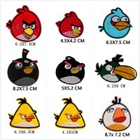 Wholesale 1 Large size Angry birds APPLIQUE TRANSFER PATCH Sewing Notions Badge decoration accessories scrapbooking