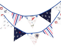 baby shower themes decorations - New Arrive Flags m Pirate Theme Cotton Fabric Bunting Pennant Flags Banner Garland Wedding Birthday Baby Shower Party Decoration