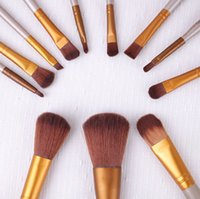 appliance logos - Makeup Brushes Set gold Make Up Cosmetic Brush Kit eye shadow Toiletry beauty appliances makeup brush Iron box with LOGO