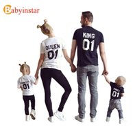 Wholesale Fashion Family Matching Outfits Summer Style King Queen Princess Prince Short Sleeve T Shirt Dad Mum Son Daughter Family Look