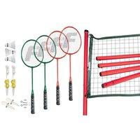 badminton net pole - Sports Classic Badminton Complete Set Net Poles Rackets Shuttlecock NEW