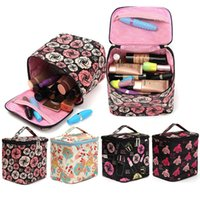 Wholesale 1PCS Makeup Box Bag Beauty Cosmetic Tools Organiser Case Jewelry Storage Holder Rose Makeup Cosmetic