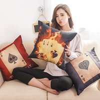 air poker - Cushion Covers Funda Cojin The Explosion Of Air Cushion Pillow Cotton Poker Waist Warm Custom Processing Soft And Comfortable
