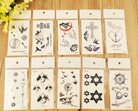 Wholesale 12 waterproof character tattoo stickers One time tattoo template d Europe and the United States tattoo post