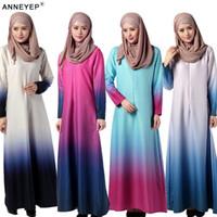 arab jilbab fashion - New Arab Women Abaya Islamic Ethnic Clothing Dress Fashion Elegant Middle East Jilbab Rainbow Tye Dye Burka Islamic Hijab Clothing
