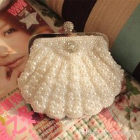 Wholesale Shell pearl fashion women s handbag chain one shoulder handbag messenger bag new arrival weddign and party bags bridesmaid bag