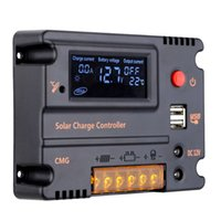 automatic solar charge controller - Hot Sale New Design Intelligent Home Auto A V V LCD Display USB Solar Panel Regulator Automatic Charge Controller