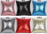 Wholesale Fashion Sequin Pillow Case Sequin Pillowslip Pillow Mermaid Pillow Covers Case Reversible Cushion Cover Home Sofa Car Decor