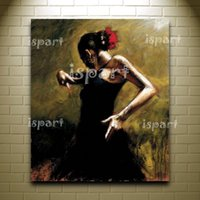 artwork dancers - hand made spanish woman lady wall painting Flamenco dancer canvas wall art home decorative oil painting traditional artwork