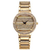 alloy shopping - High Quality Fashion Luxury Classic Brand Quartz Battery Replicas Watches Round IPG Gold Platel Diamond Retro Clocks Watch Shop