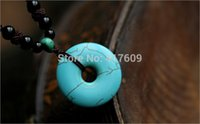 bad luck gifts - Top natural stone turquoise carved into peace clasp safety in qibao Buddhism to ward off bad luck