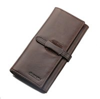 american standard pumps - GUBINTU spot brown color leather multifunction retro pumping with Europe Mobile Phone Wallet men and women long leather wallet